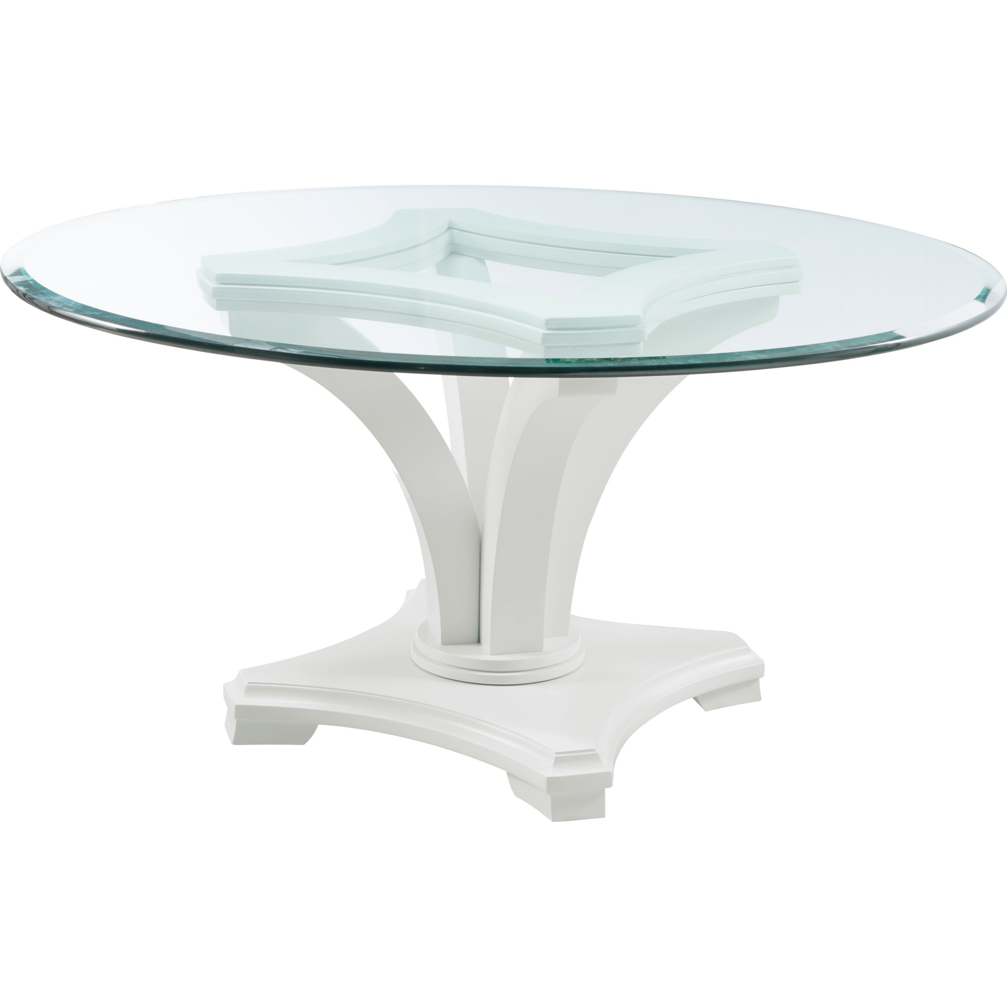 Manuscript Contemporary Round Dining Table With Glass Top By Thomasville®  At Baeru0027s Furniture