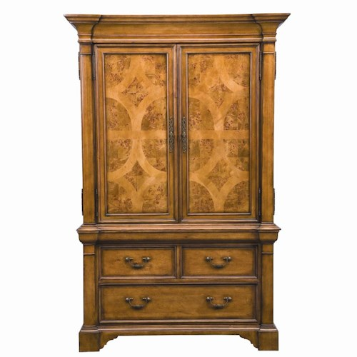 Thomasville® Rivage Traditional 2-Door Armoire - Louis ...