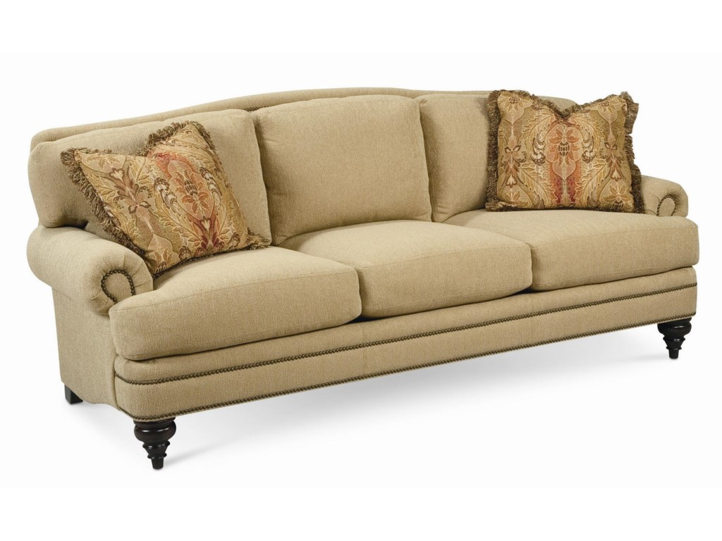 Thomasville Special Values Westportstationary Sofa With Nail Head Trim