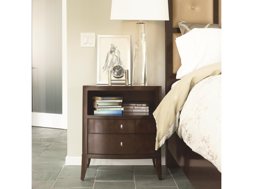 Shown in Room Setting with Leather Panel Bed