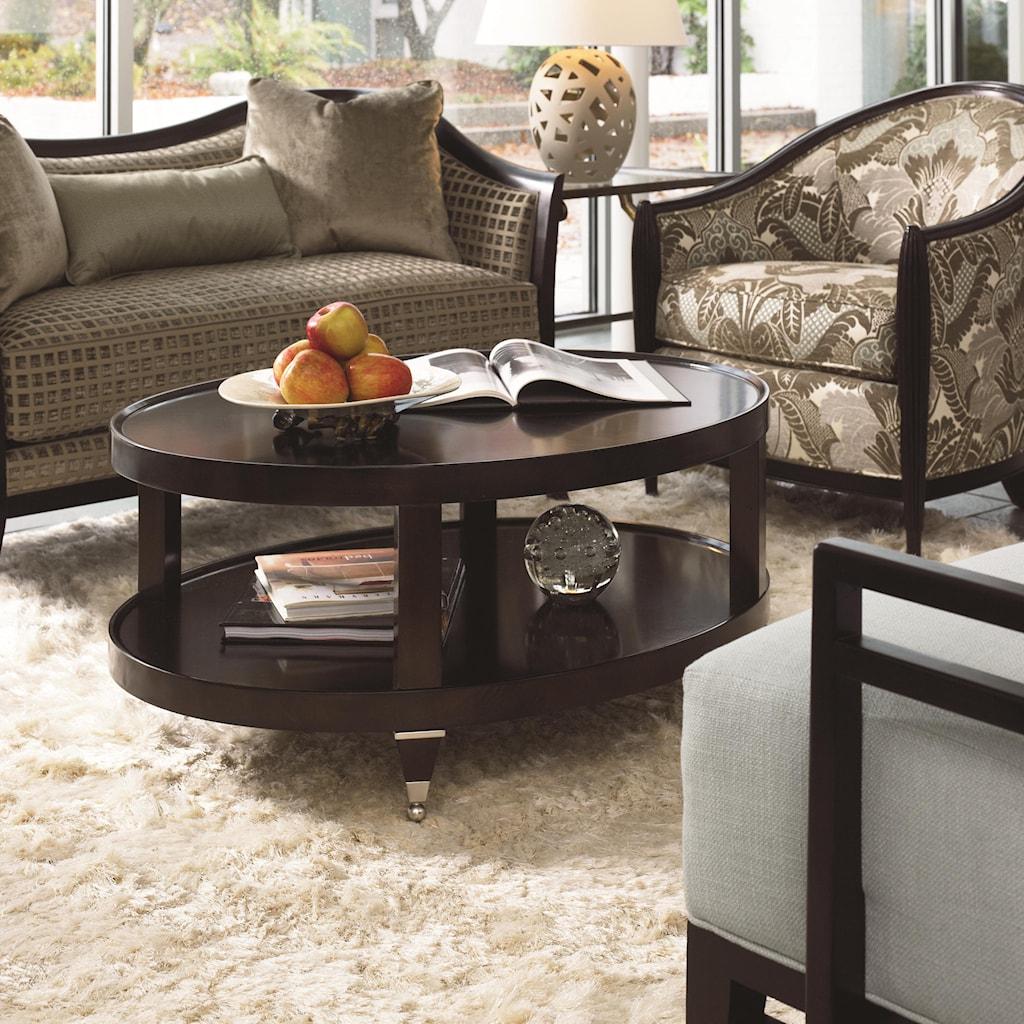 thomasville® spellbound oval coffeetable - baer's furniture