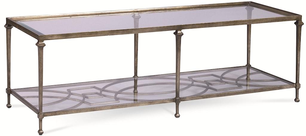 thomasville® spellbound rectangular coffee table w/ glass top