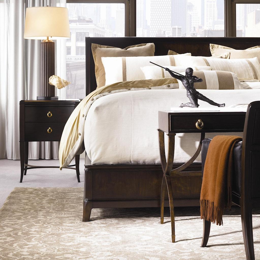 Bedside Desk thomasville® studio 455 double drawer bedside table - dunk