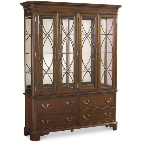 Thomasville® Tate Street China Cabinet w/ Mirrored Back | Sprintz on thomasville coffee tables, thomasville collectors cherry 3 piece, thomasville dining buffet, thomasville cherry buffet,