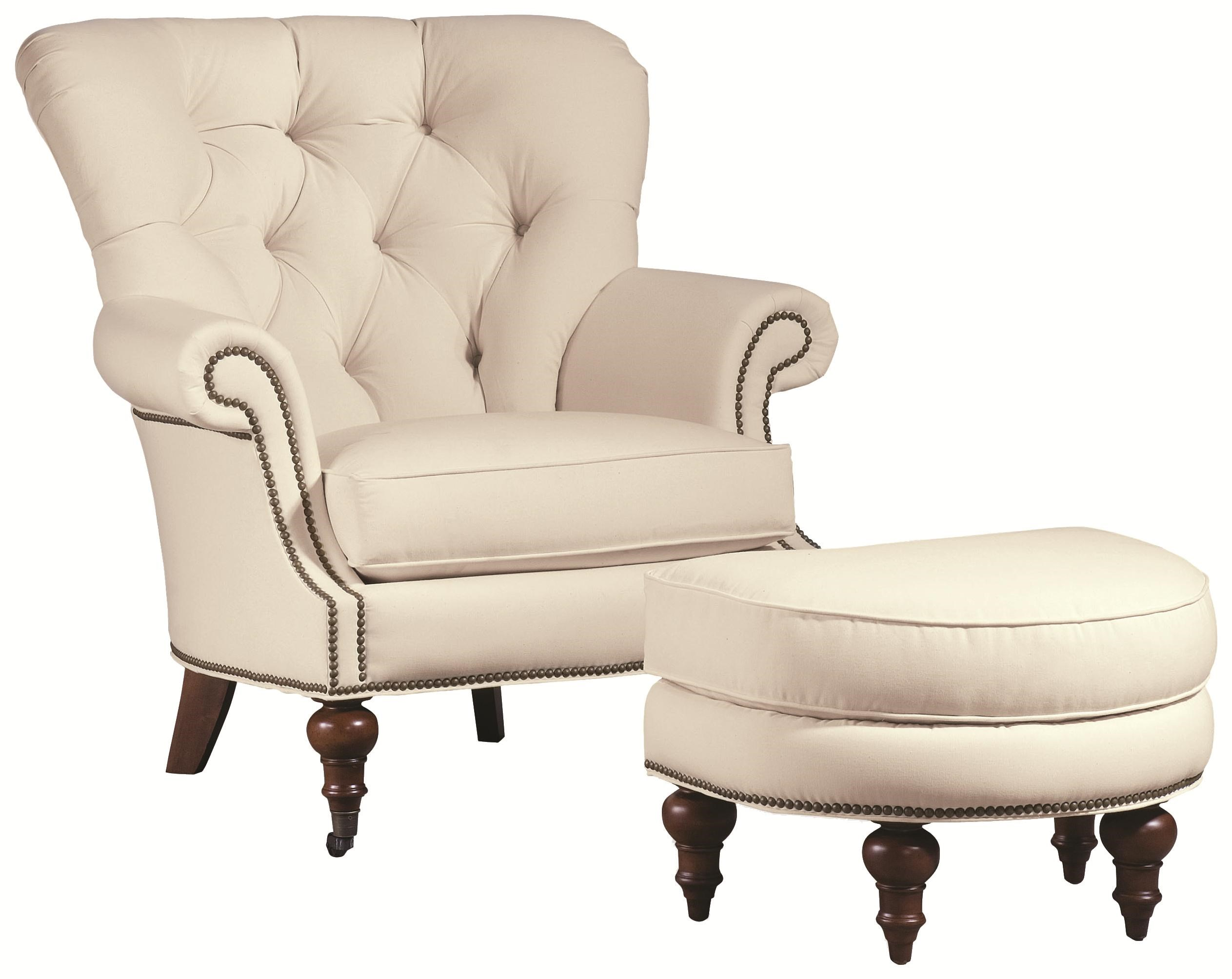 Thomasville® Upholstered Chairs And Ottomans Vienna Tufted Back Chair And Ottoman  Set