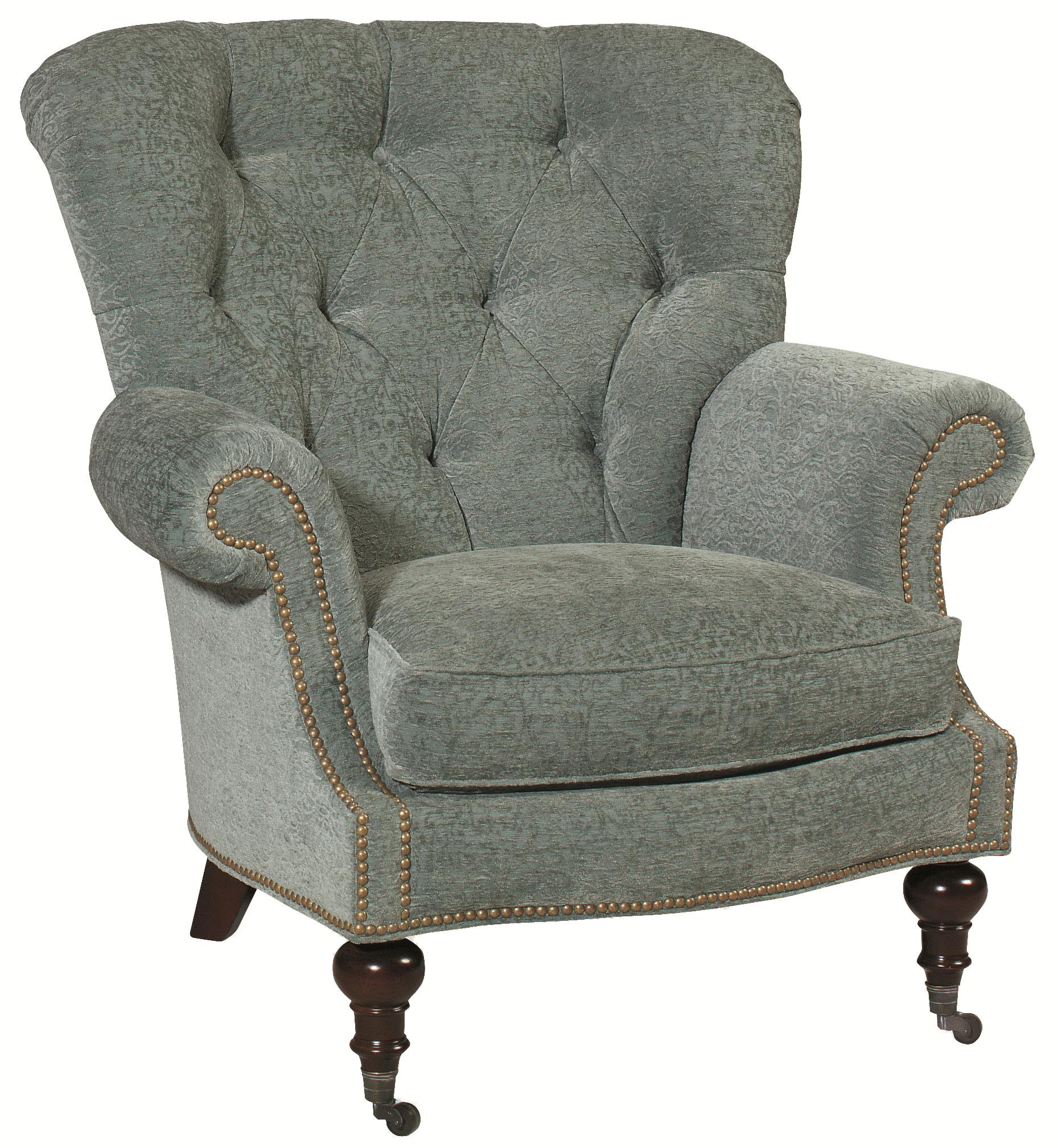 Thomasville® Upholstered Chairs And Ottomans Vienna Tufted Back Chair With  Nail Head Trim
