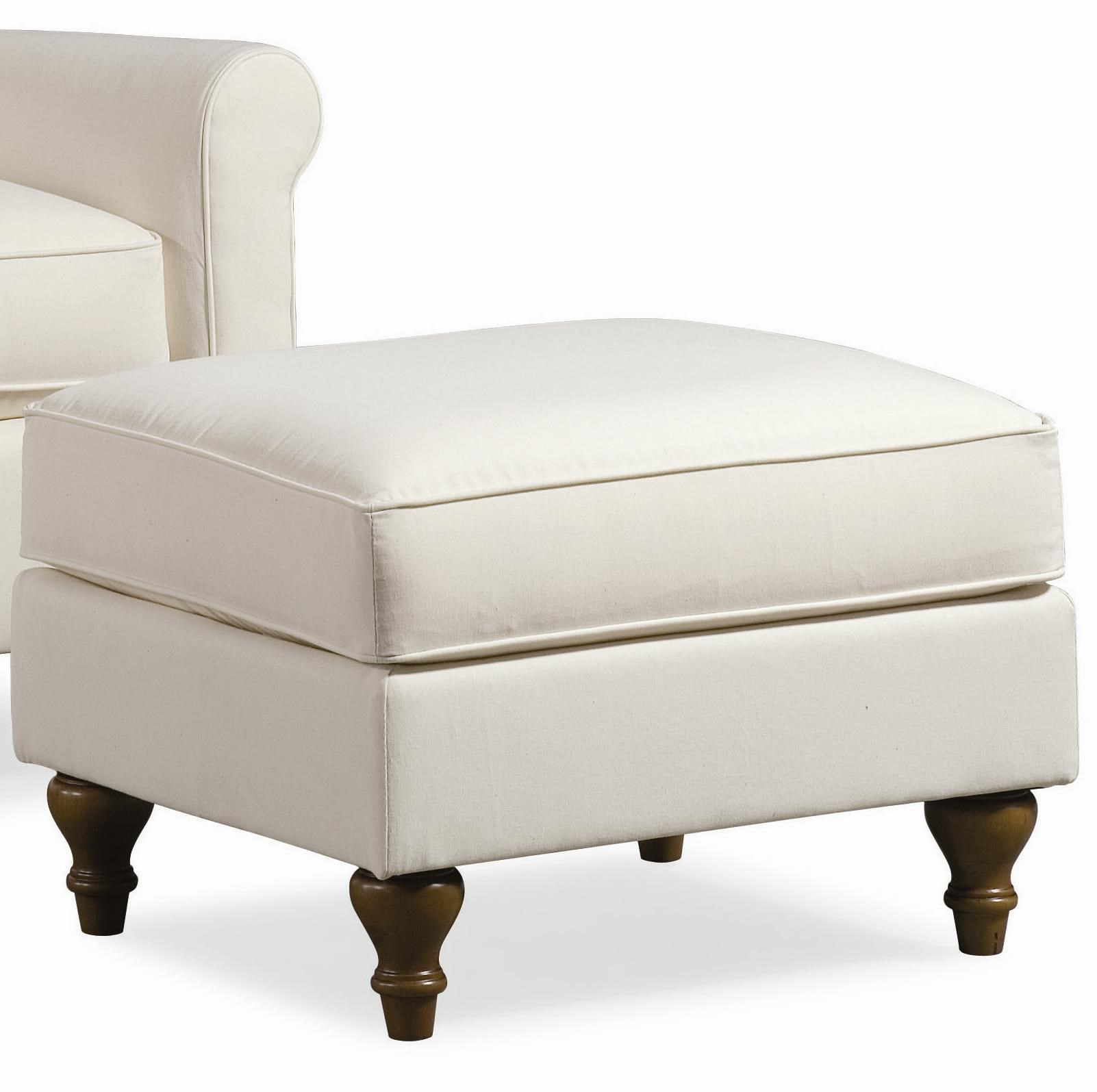 Thomasville® Upholstered Chairs And Ottomans Solitaire Upholstered Ottoman  With Turned Feet