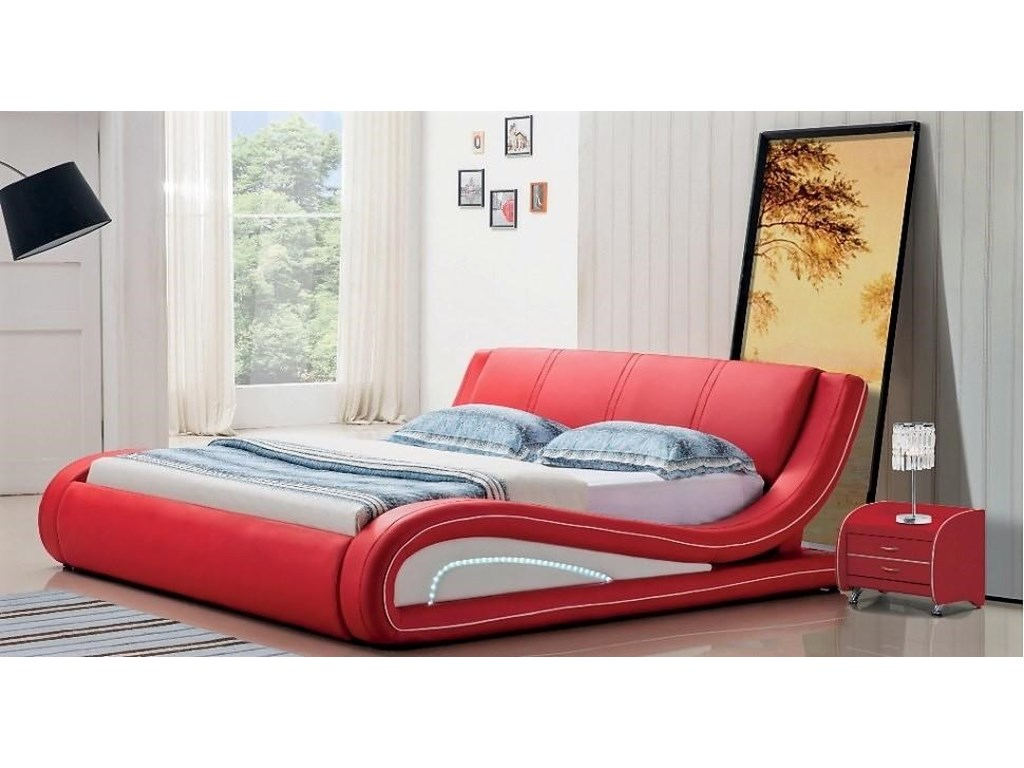 . Titanic Furniture B119 Modern Contemporary Queen Platform Sleigh Bed
