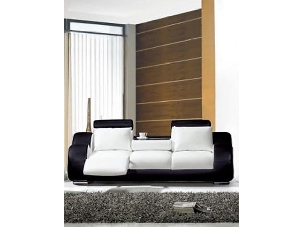 L25 Contemporary Sofa Black/White by Titanic Furniture at Dream Home  Furniture