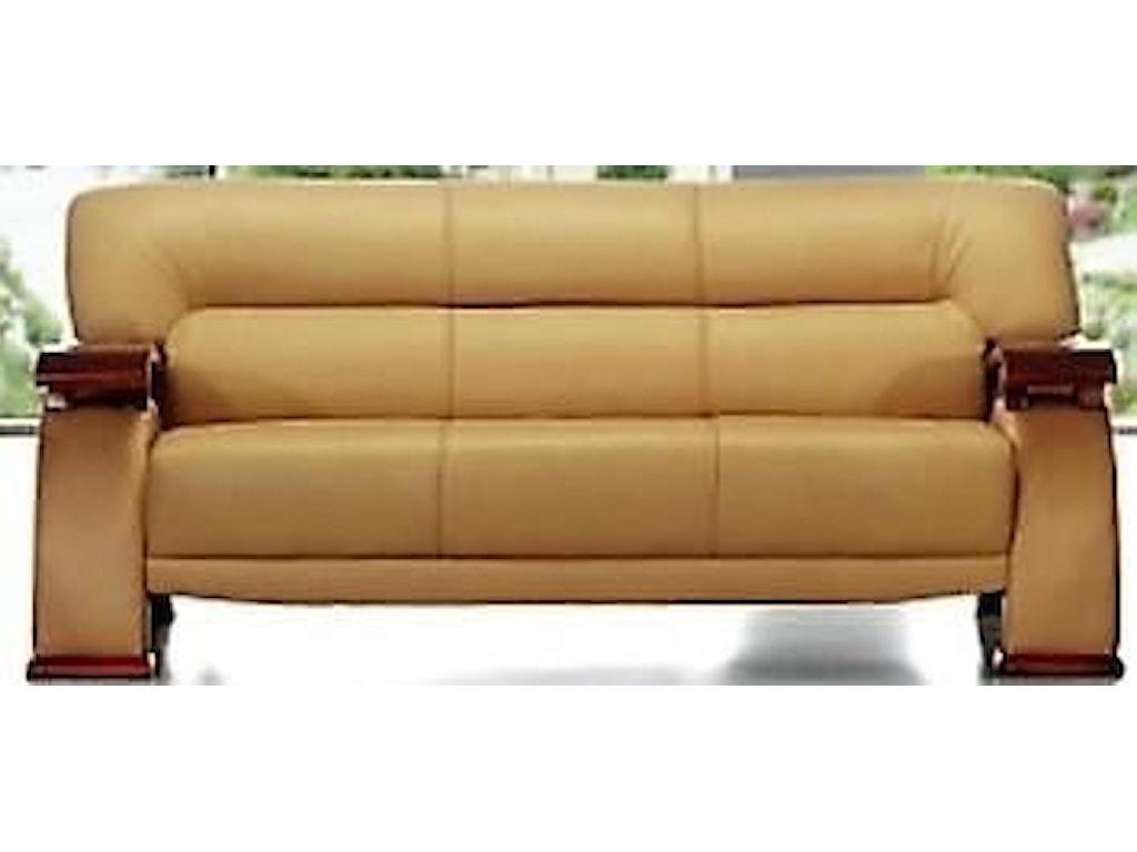Titanic Furniture L267 Contemporary Cream Leather Sofa Dream Home