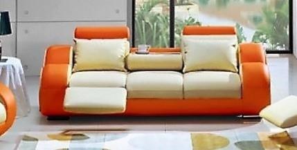 Titanic Furniture L27 Reclining Sofa Orange White Dream Home