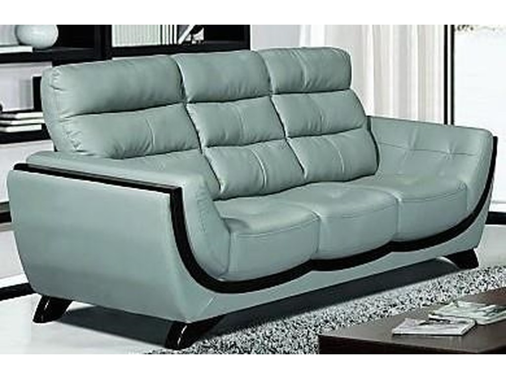 L519 Contemporary Light Grey Sofa w/Exposed Wood by Titanic Furniture at  Dream Home Interiors