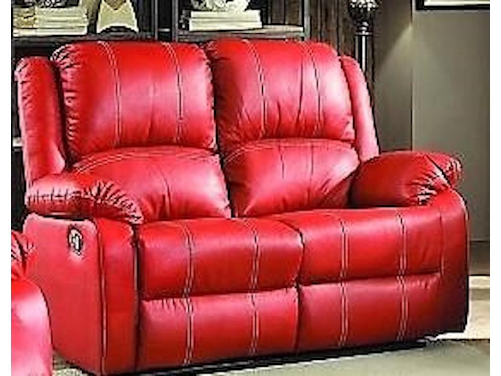 Titanic Furniture L611 Casual Loveseat Red Dream Home Furniture