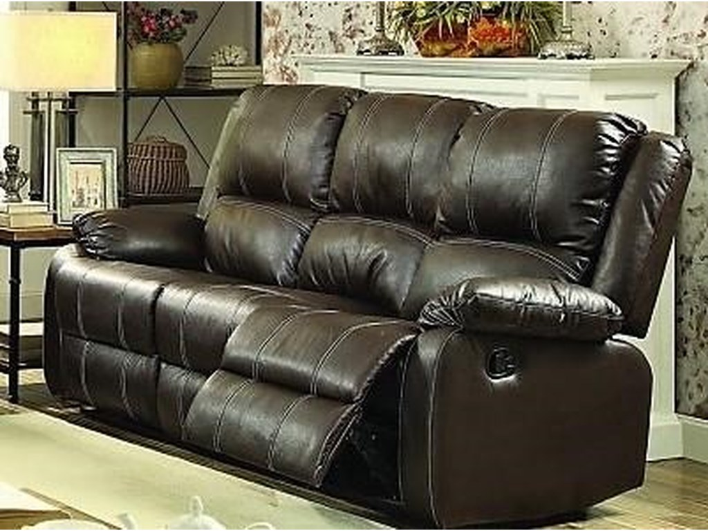 Titanic Furniture L612 Casual Reclining Sofa Brown Dream Home