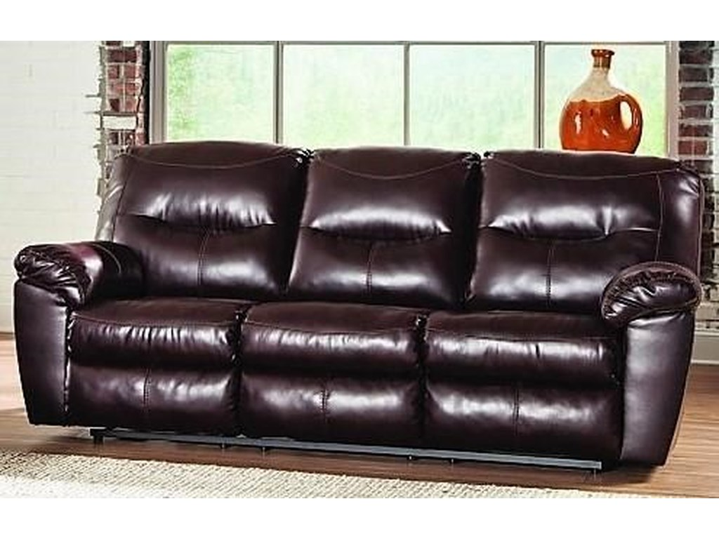 L615 Brown Leather Reclining Sofa by Titanic Furniture at Dream Home  Interiors