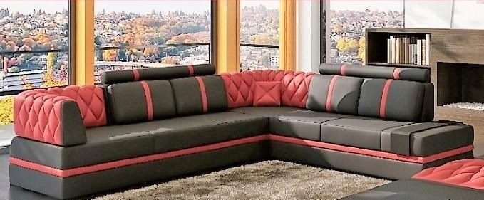 Titanic Furniture S175 3 Piece Sectional W Raf Chaise Ottoman