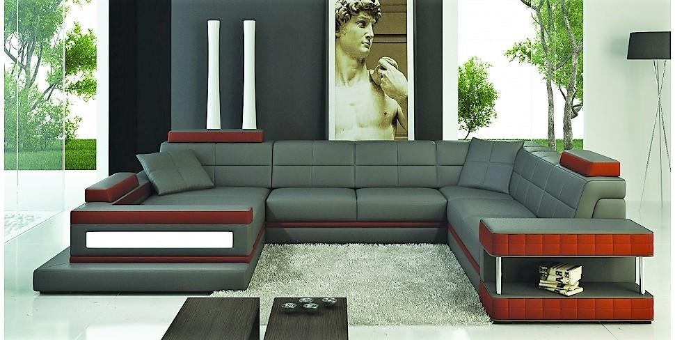 S183 Contemporary Sectional W/LAF Chaise RAF Sofa By Titanic Furniture