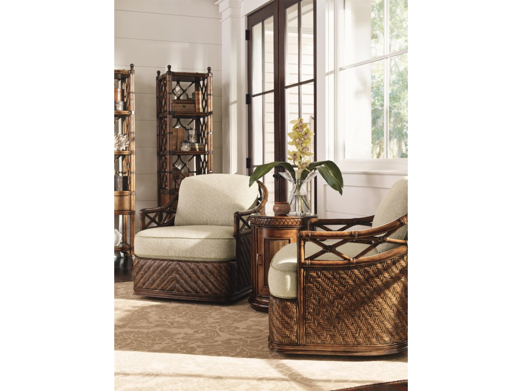 Tommy Bahama Home Bali HaiDiamond Cove Swivel Chair