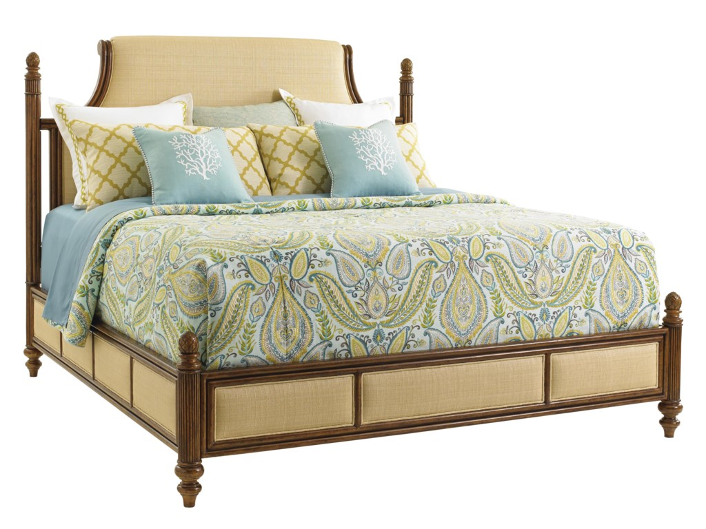 Tommy Bahama Home Bali Hai6/0 Orchid Bay Upholstered Bed