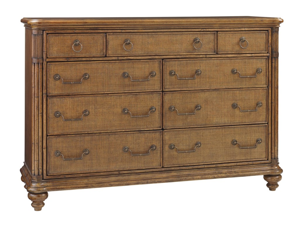 Tommy Bahama Home Bali HaiBreakers Double Dresser and Mirror Set