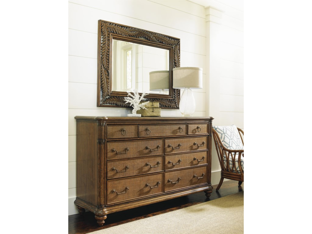 Tommy Bahama Home Bali HaiCosta Sera Triple Dresser and Mirror Set