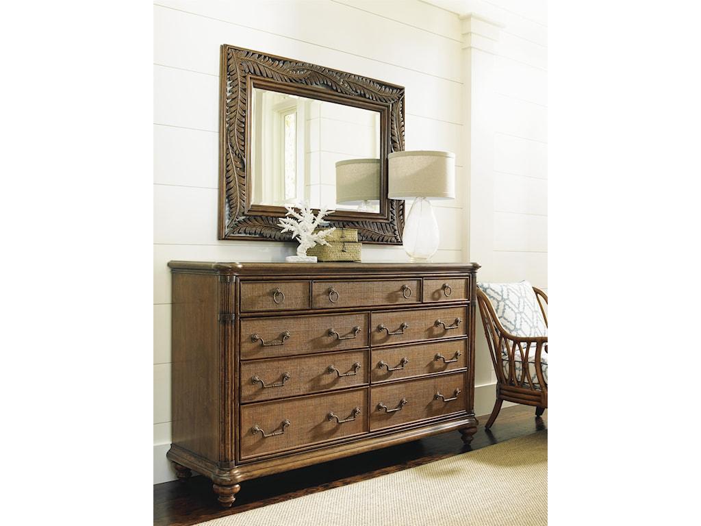 Tommy Bahama Home Bali HaiCosta Sera Triple Dresser and Mirror Set