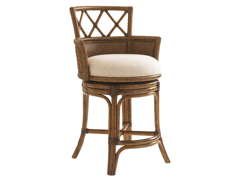 Tommy Bahama Home Bali HaiQuickship Kamala Bay Swivel Counter Stool
