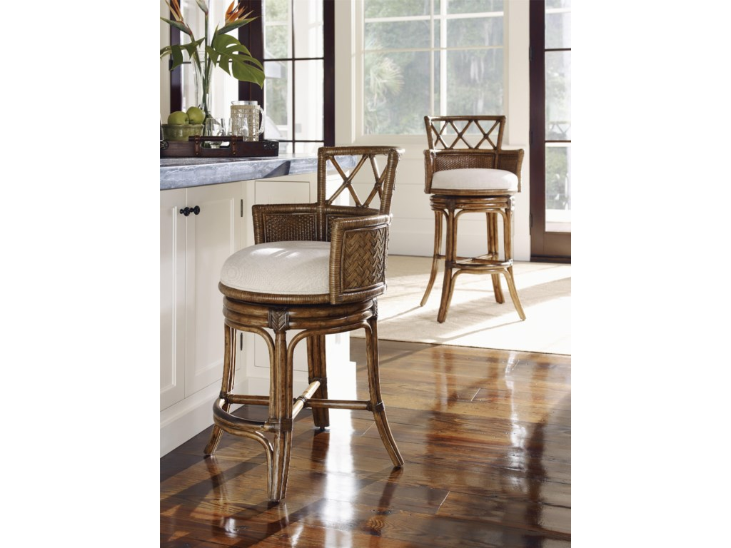 Tommy Bahama Home Bali HaiQuickship Kamala Bay Swivel Bar Stool