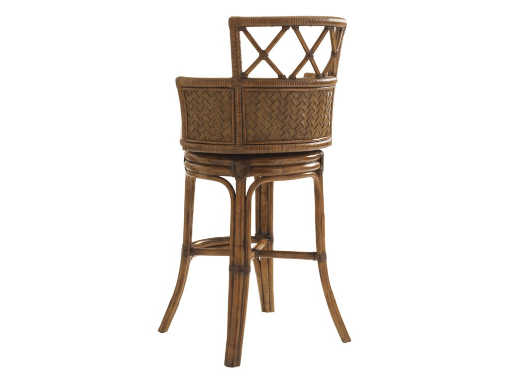 Tommy Bahama Home Bali HaiCustomizable Kamala Bay Swivel Bar Stool