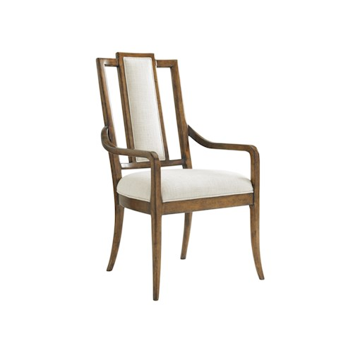 Tommy Bahama Home Bali Hai Quickship St. Bart's Splat Back Dining Arm Chair