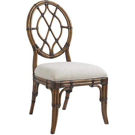 Quickship Cedar Key Oval Back Side Chair