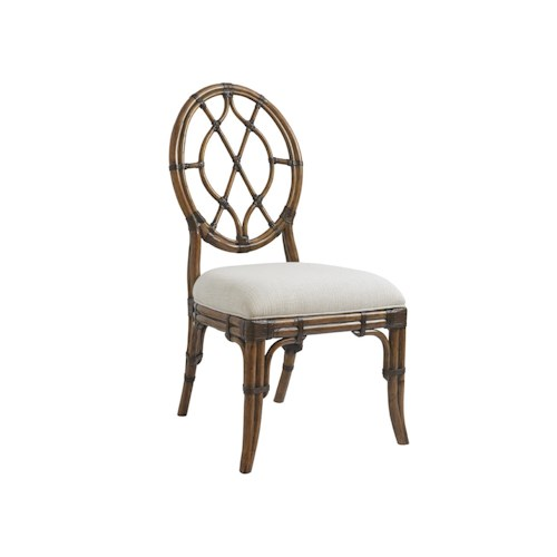 Tommy Bahama Home Bali Hai Quickship Cedar Key Oval Back Side Chair