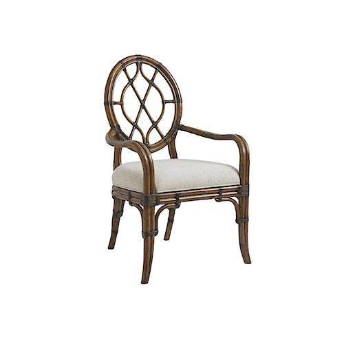 Tommy Bahama Home Bali Hai Quickship Cedar Key Oval Back Arm Chair