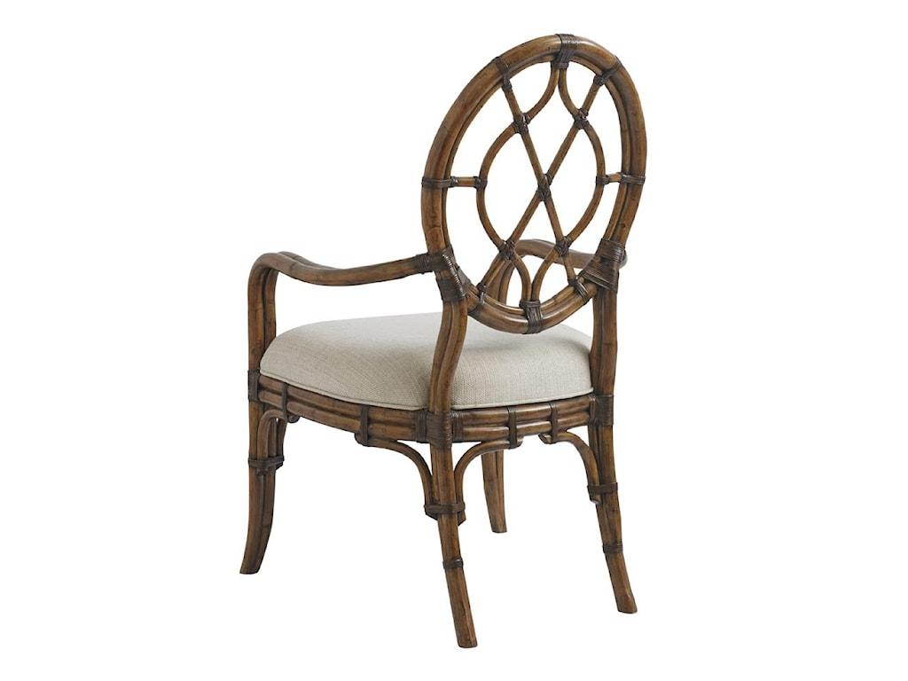 Tommy Bahama Home Bali HaiQuickship Cedar Key Oval Back Arm Chair