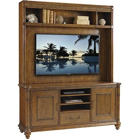 Pelican Cay Media Console and Hutch