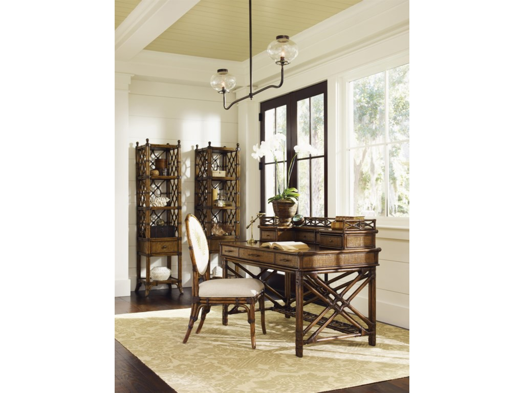 Tommy Bahama Home Bali HaiEnchanted Isle Desk and Box of Drawers
