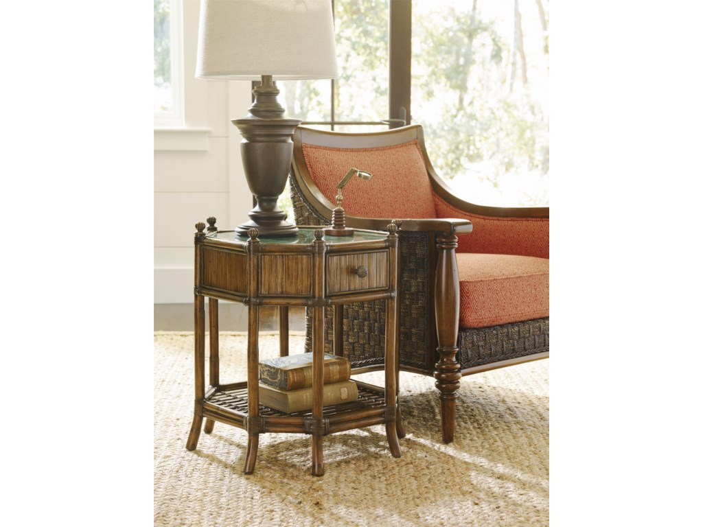 Tommy Bahama Home Bali HaiFlamingo Octagonal End Table