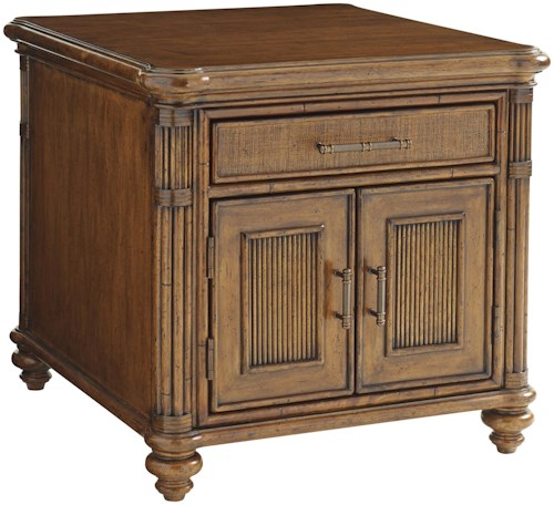 Tommy Bahama Home Bali Hai Mariner Storage End Table