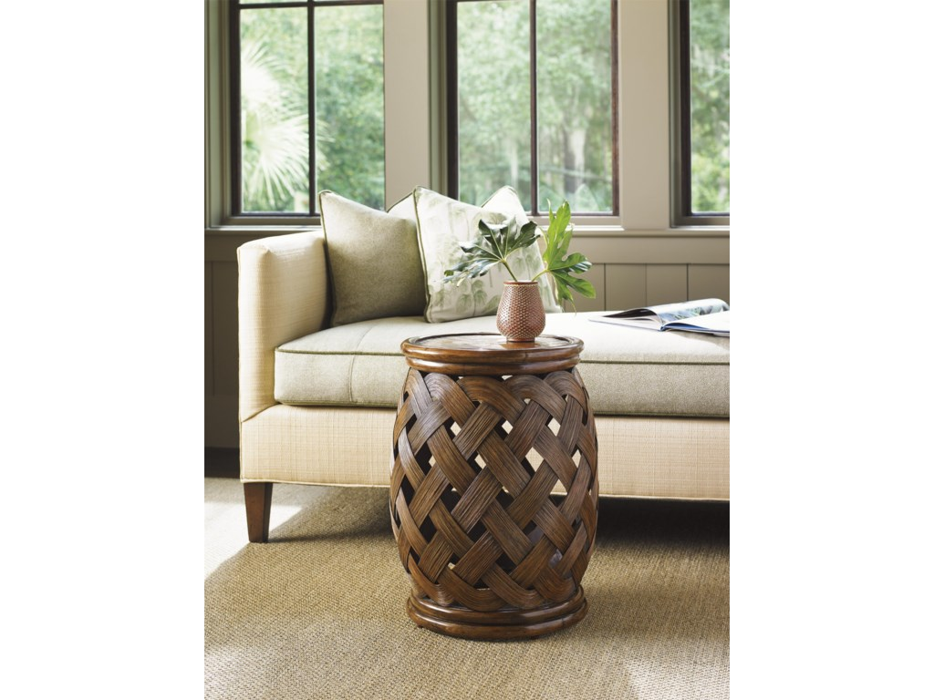 Tommy Bahama Home Bali HaiHibiscus Round Accent Table