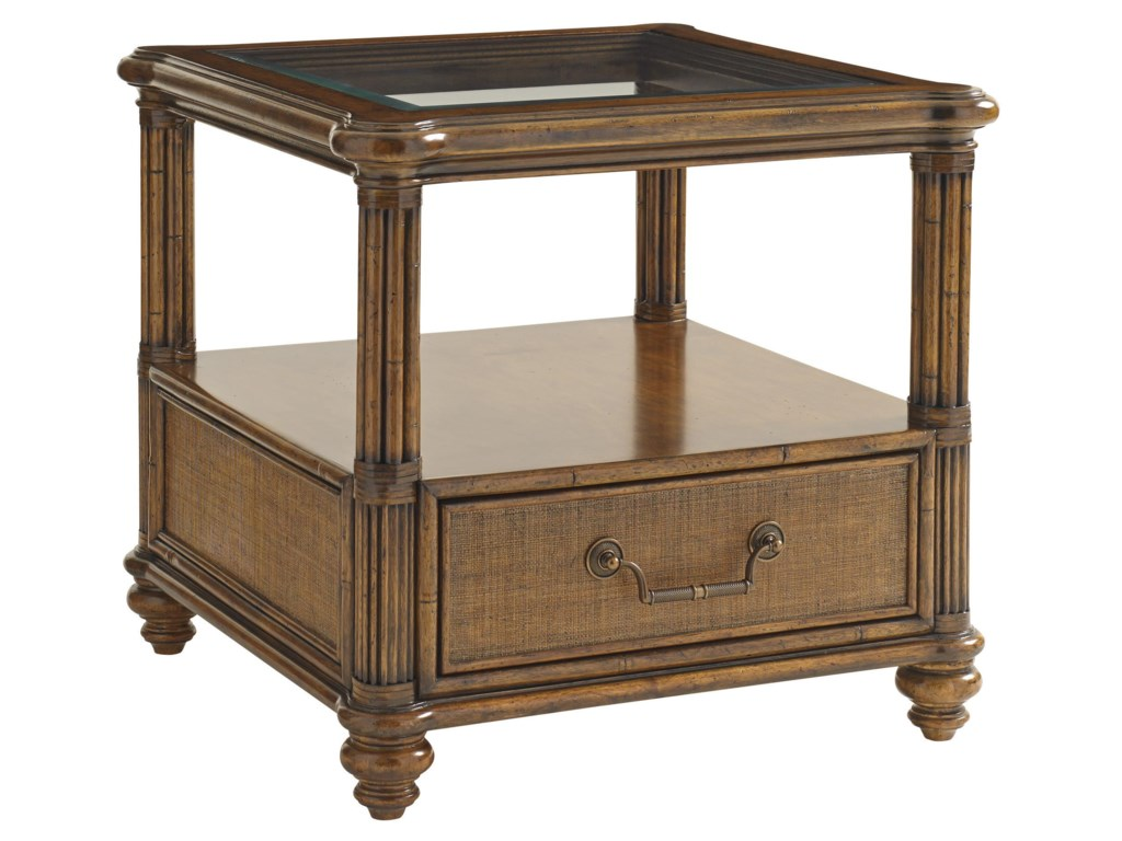 Tommy Bahama Home Bali HaiBimini Square End Table