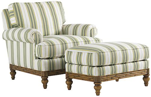 Tommy Bahama Home Beach House Golden Isle Customizable Chair and Ottoman