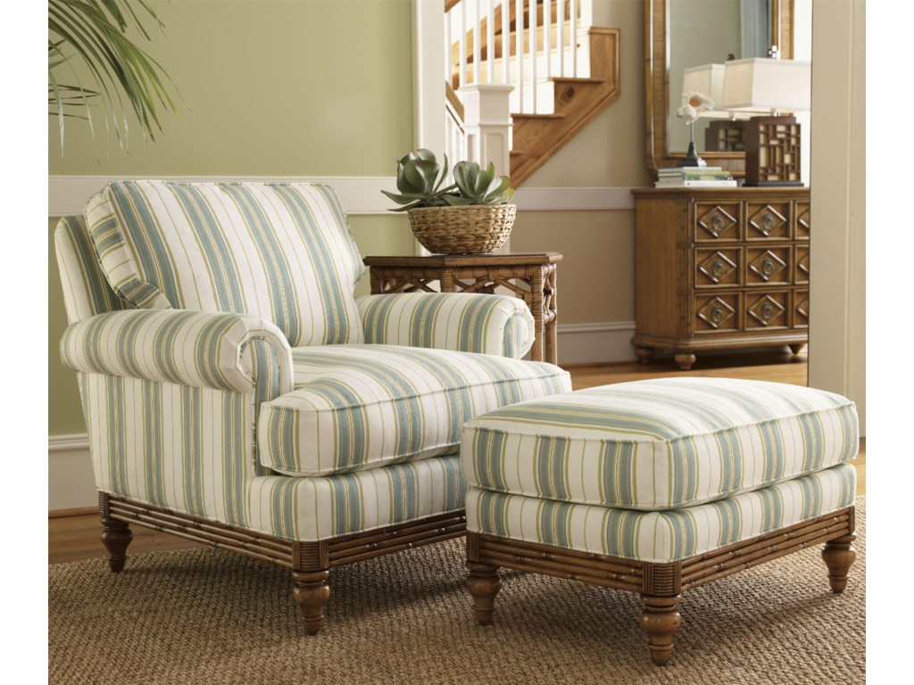 Tommy Bahama Home Beach HouseGolden Isle Chair and Ottoman