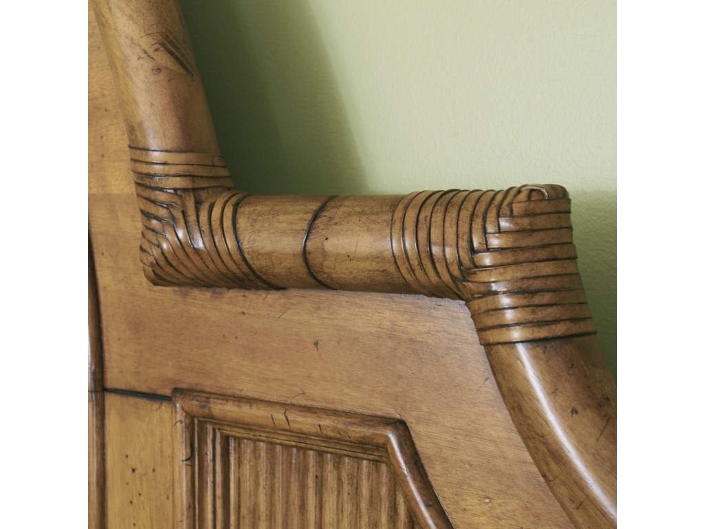 Bamboo and Rattan Detail on Headboard