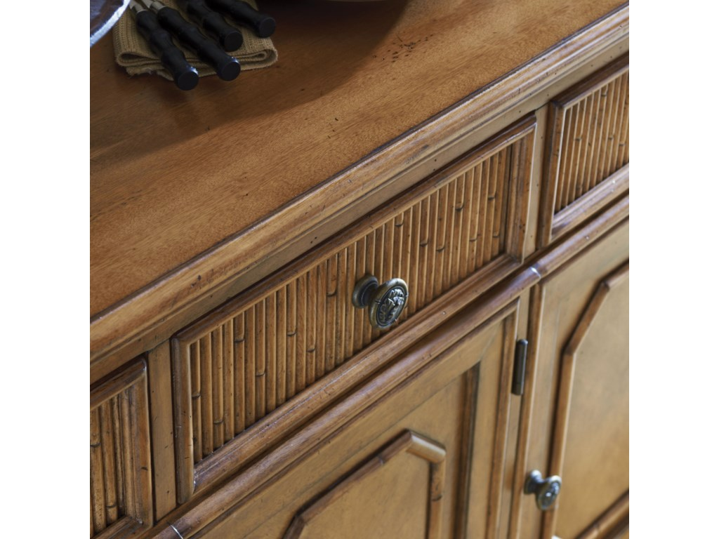 Bamboo Accents on Drawer Fronts