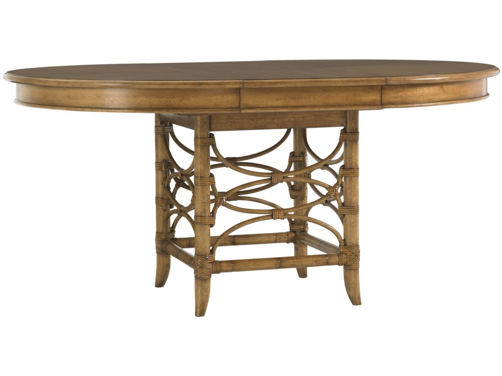 Coconut Grove Dining Table Shown with 18-Inch Leaf