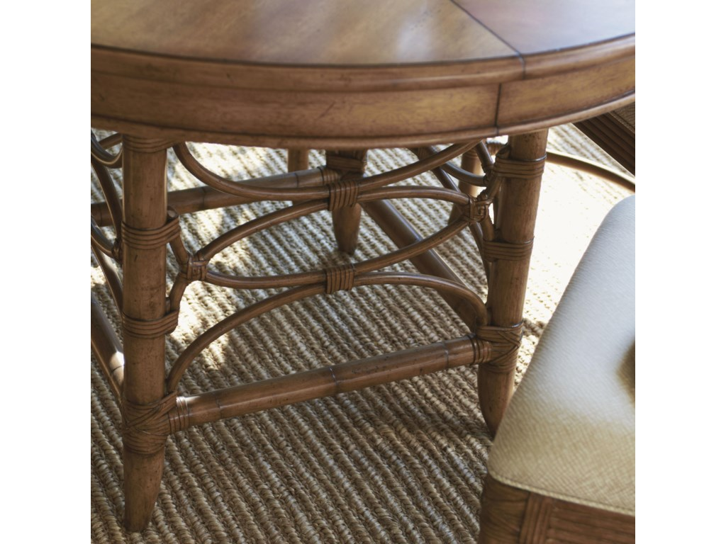 Leather-Wrapped Bent Rattan Base