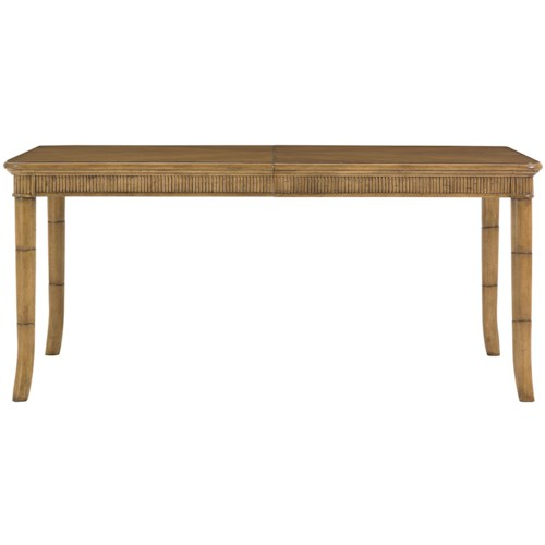 Tommy Bahama Home Beach House Rectangular Boca Grande Dining Table with Reeded Bamboo Apron