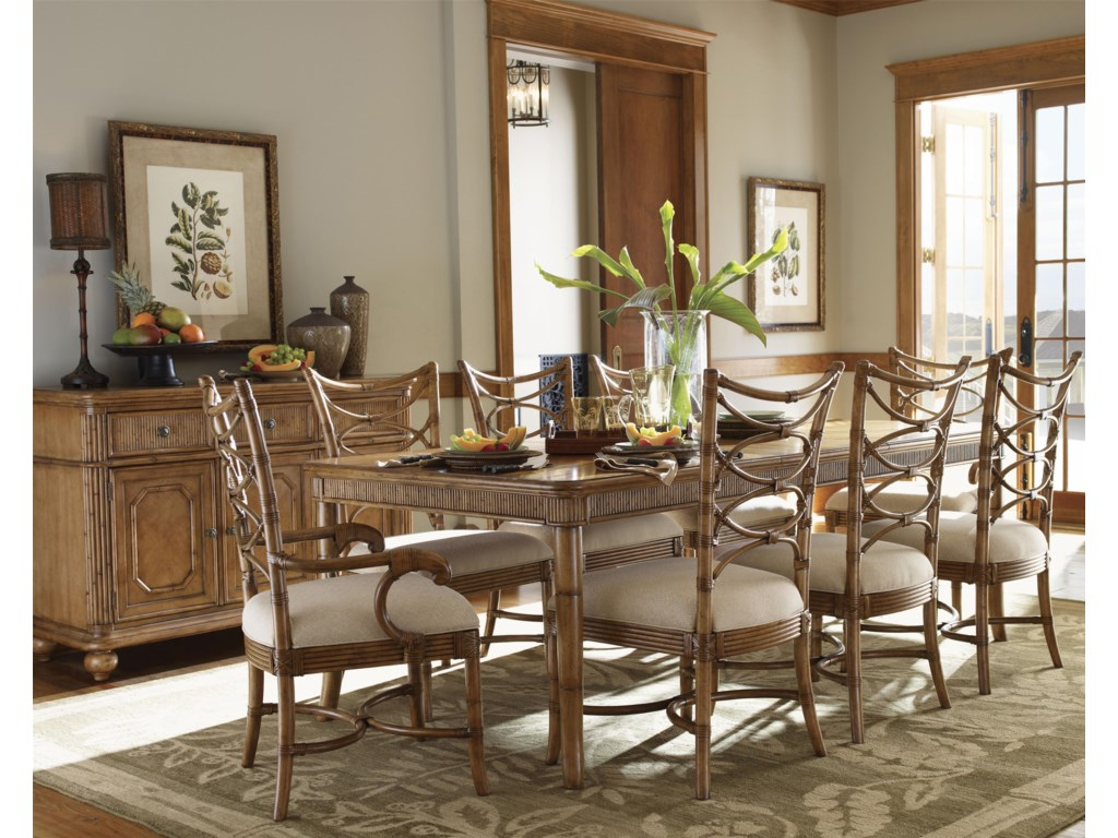 Shown with Boca Grande Dining Table, Sanibel Arm Chairs, and Siesta Key Buffet