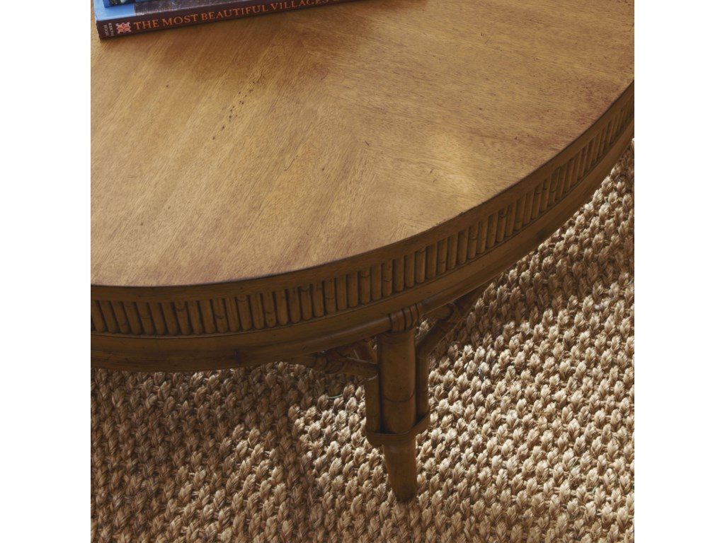 Reeded Bamboo Detailed Surround the Tabletop