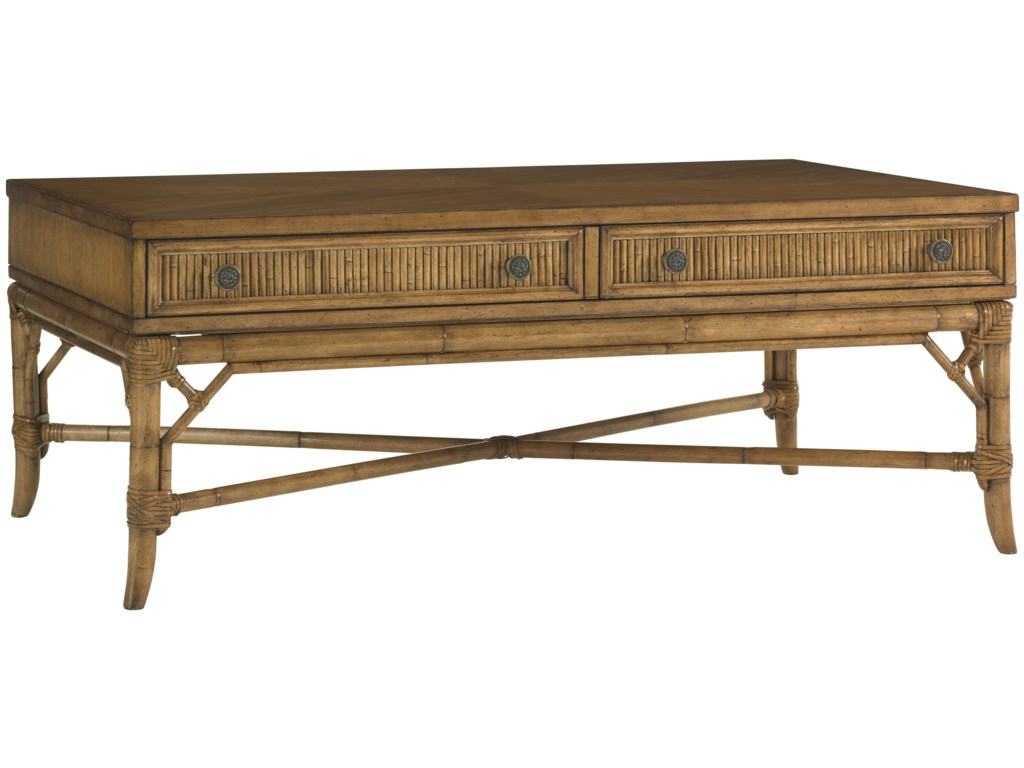 Tommy Bahama Home Beach House Ponte Vedra Tail Table Homeworld Furniture Coffee Tables